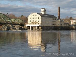 The Bowdoin Mill on the Androscoggin River